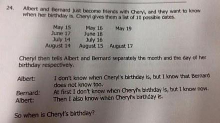 cheryl logic test